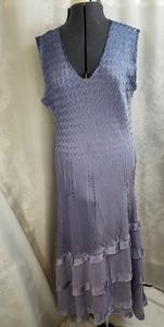 Purple and blue and purple ombre dress by Komarov!